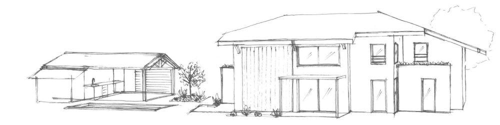atelier_construction_maitre_oeuvre_bourg_croquis_inspiration_extérieur_maison_noir_blanc
